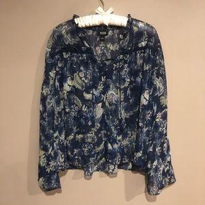 🎀 a.n.a printed peasant blouse sz L
